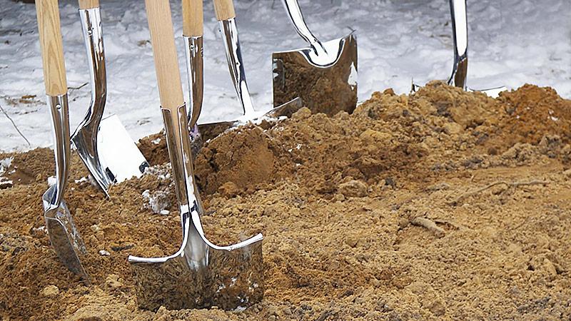 Construction ground breaking
